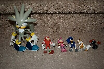 Lot Of Sonic The Hedgehog Action Figures Tails Amy Silver Sonic Knuckles 51 00 Picclick
