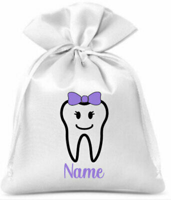 Personalised Tooth Fairy Drawstring Bag/Boys/Girls/Gift