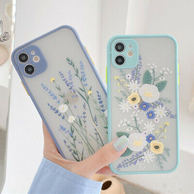 For iPhone 11 Pro Max XS XR SE 2020 8 7+ Shockproof Flower Phone Case Hard Cover