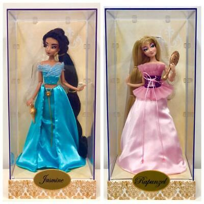 Jasmine and Rapunzel Limited First Edition Doll.  2 Disney Store Designed Dolls.