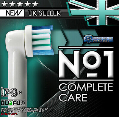 x4 Electric Toothbrush Heads Compatible With Oral B Braun Toothbrush Head Models