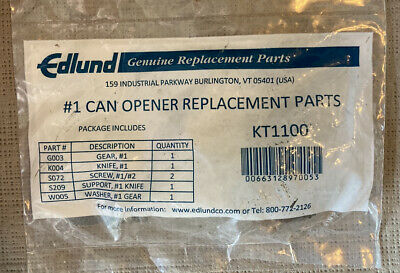 Edlund #1 Can Opener Replacement Parts Kt 1100  Kt1100 New & Sealed