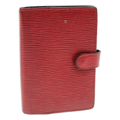LOUIS VUITTON Epi Agenda PM Day Planner Cover Red R20057 LV Auth cr618