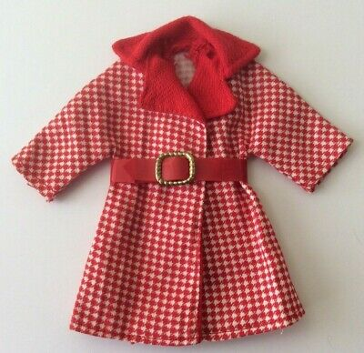 Sindy doll 1972 Red Hot Outfit 12S48 Coat with Belt vintage dolls clothes