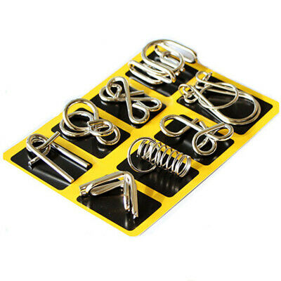 8Pcs Metal Wire Puzzles ChineseRing Puzzle for Adults andToys(B Versio