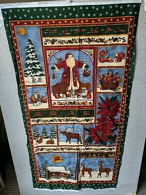 "Wilmington Prints Patchwork Cotton Fabric Panel /""Christmas Past/"" Quilting"
