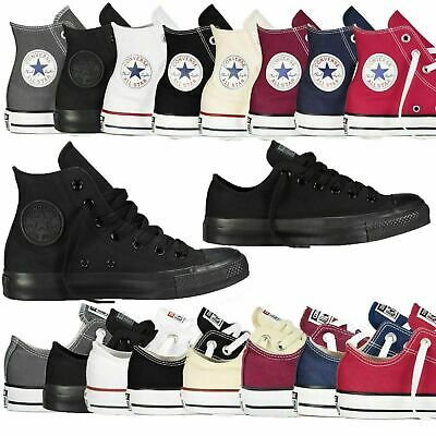 Converse All Star Chuck Taylor Hi Lo Tops Trainers Shoes Canvas All Size Boxed