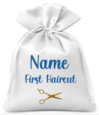 Personalised First Haircut Drawstring Bag/Boys/Girls/Gift