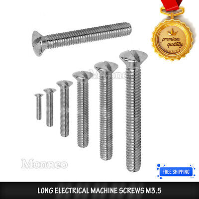 Long Electrical Machine Screws M3.5 For Light Switch,Plug Socket,Front Plates