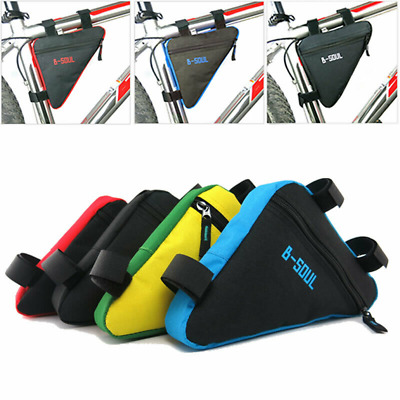 Bicycle Front Frame Bag Cycling Bike Tube Pouch Holder Saddle Panniers TXPD