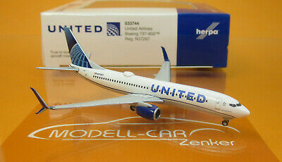 Herpa Wings B737-800 United Airlines 533744-1:500 new 2019 colors