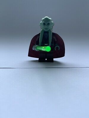 bagged LEGO Star Wars Figure Kit Fisto with yellow Lightsaber split from 8088