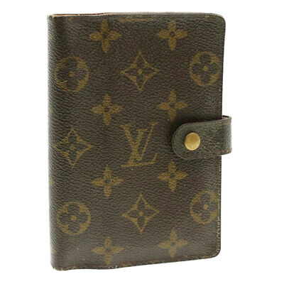 LOUIS VUITTON Monogram Agenda PM Day Planner Cover R20005 LV Auth yk152