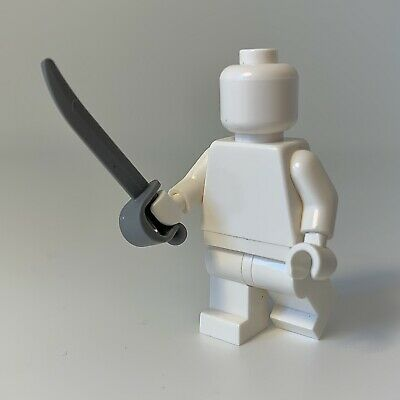 Lego Minifig Cutlass Pirate Sword x 4 Dark Stone Grey