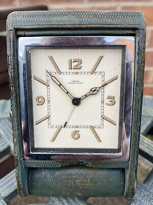 Stunning Jaeger Lecoultre Travel Clock Spares Or Repair