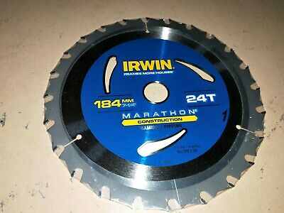024 Irwin  Circular Saw Blades 184,216,235mm 20 24 /& 40 Tooth New and Cheap!!