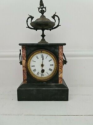 Spares Or Repairs Old French Marble/onyx Mantle Clock