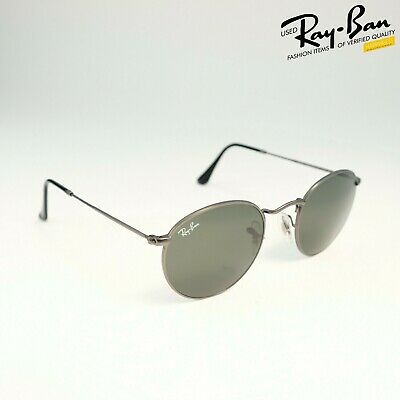 RAY BAN ROUND METAL Gold Frame Pink Mirror Lens Sunglasses