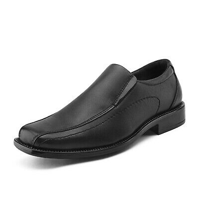 Men Slip On Loafers Formal Casual Dress Shoes Genuine Leather Oxfords Shoes