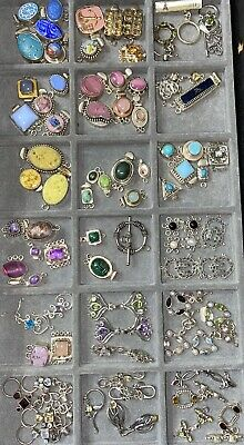 VINTAGE Jess Imports SOLID Sterling Silver Handmade Clasps Jewelry Bead Making
