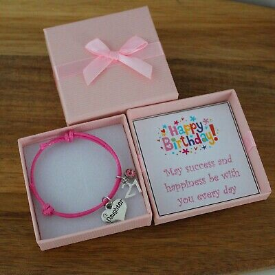 Personalised BIRTHDAY Gifts Adjustable Bracelet 16th 18th 21st 30th 50th 60th