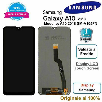 Display LCD Touch Screen Samsung Galaxy A10 2018 SM-A105FN ORIGINALE Nero
