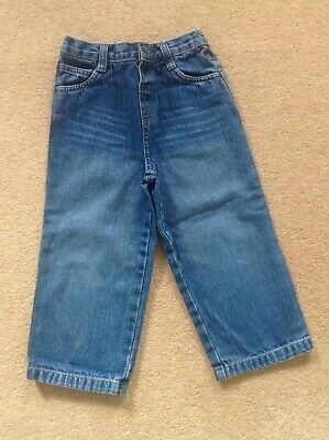 Toddler boys denim blue jeans age 2-3 Matalan 100% cotton