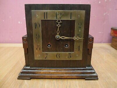 Antique Edwardian Oak Cased Arts & Crafts Mantle Clock Project