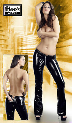 Black Level Pants Hose 40/42 M Schwarz Noir PVC LACK BDSM Slave