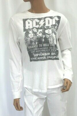 JUNK FOOD AC DC HIGHWAY TO HELL TOUR WHITE GRAPHIC T Shirt Size S