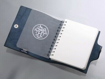 H8632M Authentic HERMES Genuine Leather Agenda Notebook Cover *Inside Junk