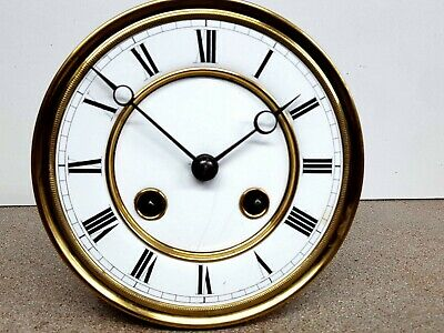 Antique spring driven Vienna regulator wall clock  movement and dial