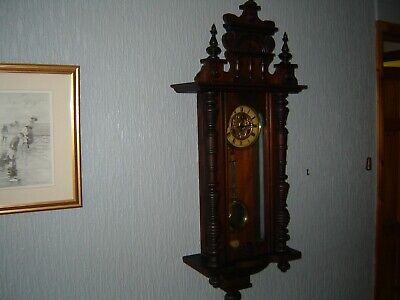 19c Walnut cased Vienna wall clock