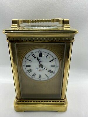 Stunning Masked Dial Time Peice Carriage Clock Pretty Dial