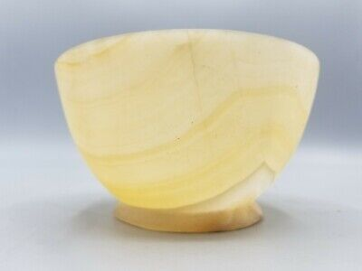 Real 3000Bc Ancient Egyptian Alabaster Bowl Vessel From Madison Ave Gallery