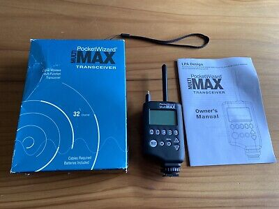 Pocket Wizard MULTI MAX Inst & Boxed Transceiver Transmitter & Receiver Plus II