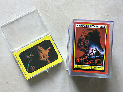 Return Of The Jedi Full Set Of 132 Trading Cards And 33 Stickers - Topps 1983