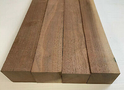 """1.5/"""" x 3//8/"""" x 5/"""" Black Palm Lumber Blank DIY Material for Knifemakers Book Match"""