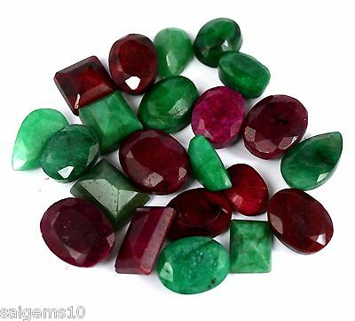 Green Emerald Red Ruby Blue Sapphire Mix Shape Gemstone 2500 Ct Natural Lot