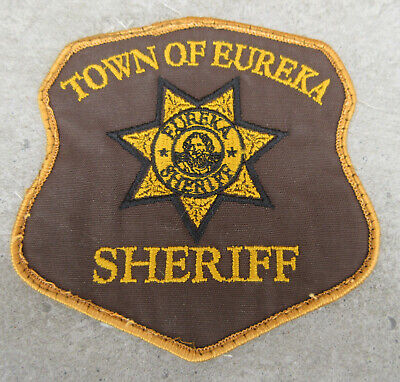 Town of Eureka SHERIFF Patch Production made movie Costume Prop, screen used ?
