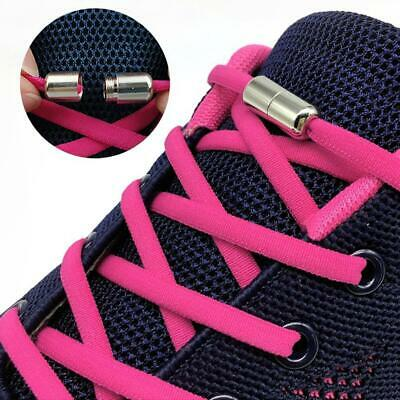 Elastic Silicone No Tie 'Lazy' Shoe Laces Shoelaces Trainers Adult&Kids T9V2