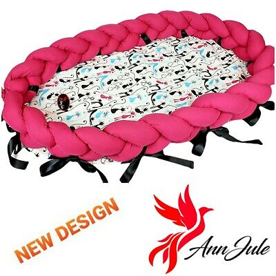 BABY NEST POD COCOON SLEEPING with removable braided bumper around HIGH QUALITY