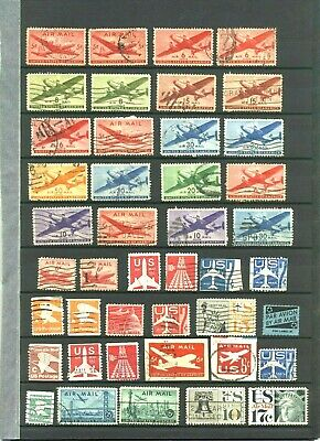 USA  Air mail selection in good condition