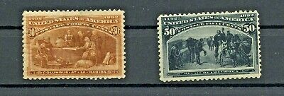 USA   Columbus selection  30 cents and 50 cents