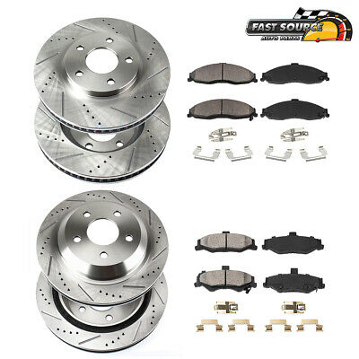 REAR Drill And Slot BRAKE ROTORS SET For 300 Charger Challenger Magnum 2WD RWD