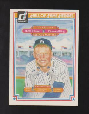 1983 Donruss Hall of Fame Heroes #43 Mickey Mantle card, New York Yankees