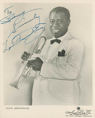 """Louis """"Satchmo"""" Armstrong - Autographed Inscribed Photograph"""