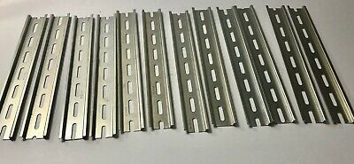 12 Pieces 12 inch long DIN Rail Slotted Steel Zinc Plated WEGO brand.