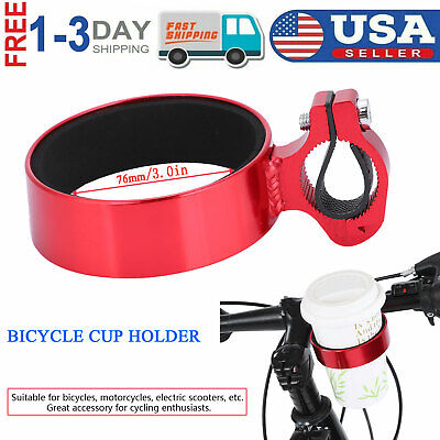 Fito Aluminum Alloy Handlebar Cup Drink Holder Cruiser Bicycle Mountain Bike SIL
