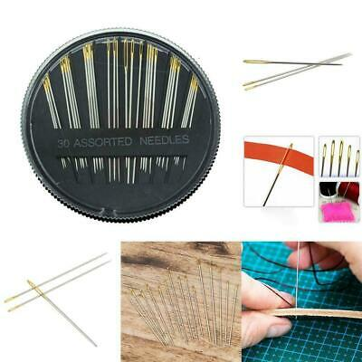 30pcs Assorted Hand Sewing Needles Embroidery Mending Craft Quilt Case UK seller